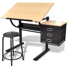 Masă de desen cu blat reglabil cu scaun 3 sertare - Sacou barbati