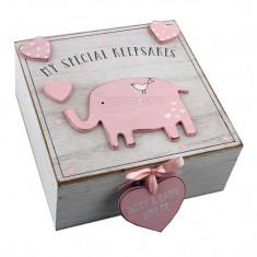 Petit Cheri 'MDF My Special Keepsake Box 16cm x 16cm - roz - Dictionar ilustrat