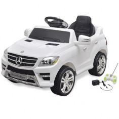 Mașină electrică Mercedes Benz ML350, cu telecomandă, 6V, alb - Pipe bujii Moto