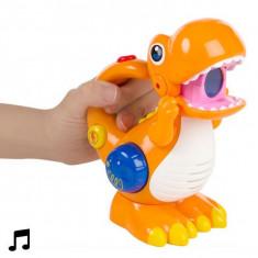 Dinozaur Recorder și Reproducător de Voce cu LED - Figurina Dinozauri