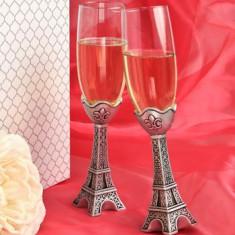 Paris Turnul Eiffel canelurile de design de șampanie