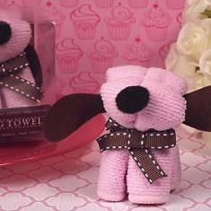 Adorabil prosop roz catelus câine - Figurina/statueta