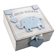 MDF Petit Cheri 'My Special Keepsake Box 16cm x 16cm - Albastru - Dictionar ilustrat