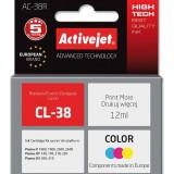 Cartus compatibil CL-38 Color pentru Canon, 12 ml, Premium Activejet, Garantie 5 ani - Cartus imprimanta