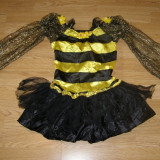 Costum carnaval serbare albina pentru copii de 5-6 ani - Costum Halloween, Marime: Masura unica, Culoare: Din imagine