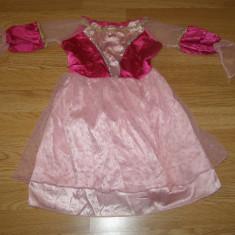 Costum carnaval serbare printesa aurora pentru copii de 4-5 ani, Marime: Masura unica, Culoare: Din imagine