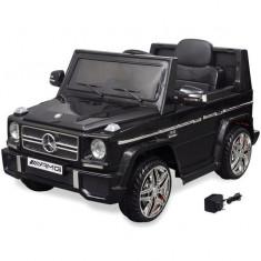 Mașină electrică pentru copii SUV Mercedes Benz G65 2 motoare, negru - Pipe bujii Moto