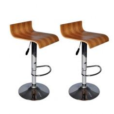 Set 2 scaune bar din lemn - Set mobila living
