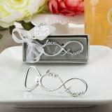 Design infinit de metal de argint deschizător sticle - Marturii nunta