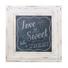 Iubesc Sign dulce pătrat Încadrată - Jocuri Litere si Cifre