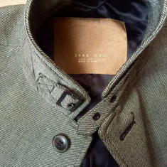 Palton Zara nou, original - Palton barbati, Marime: L, Culoare: Gri