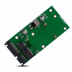 Adaptor convertor mSATA - SATA PCI-E Express SSD 50mm 1.8 mini SATA la 2.5 SATA - Adaptor interfata PC
