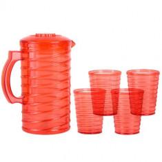 Carafă cu 4 Pahare din Plastic