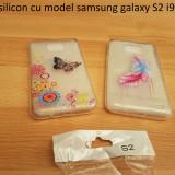 Husa silicon cu model samsung galaxy S2 i9100 - Husa Telefon Samsung, Transparent
