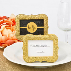 Cadru de aur sclipici bling de la solefavors - Carte Epoca de aur