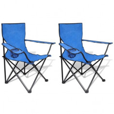 Set 2 scaune pliabile de camping, Albastru - Mobilier camping