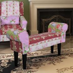 Bancă patchwork stil floral - Taburet