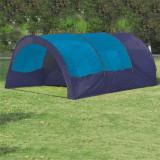 Cort camping din poliester, 6 persoane, Albastru/ Albastru închis
