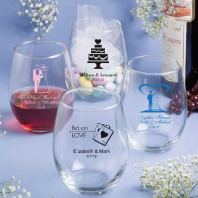 Personalised stemless Vin Ochelari - 15 Oz. * 25pcs Min. foto