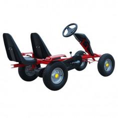 Kart pentru copii cu pedale cu 2 scaune Roșu - Masinuta electrica copii