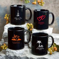 Personalizată Negru ceramica cafea halbă * min.12pcs. - Espressor