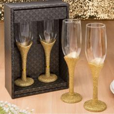 Colectie eleganta de aur set de 2 pahare rumenire - Geaca XXXL