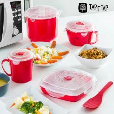 Set de Gătit cu Abur pentru Microunde Tap It Tap (11 piese) - Sageti darts