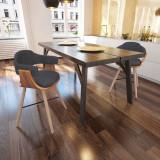 Scaun din lemn curbat cu tapițerie din material textil 2 buc. - Scaun birou