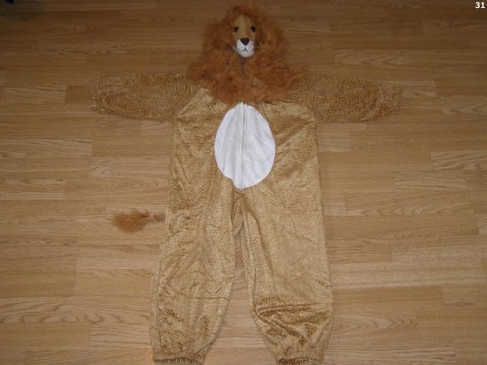 costum carnaval serbare animal leu pentru copii de 4-5-6 ani foto mare
