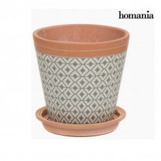 Plantator ceramic romburi by Homania