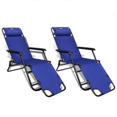 Set 2 șezlonguri reglabile pliabile Albastru - Set Role Curea Distributie
