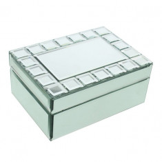 Proiectare Hestia sticlă oglindă cutie de depozitare pătrat Cut - Carti Energetica
