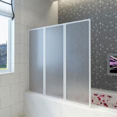 Paravan pliabil baie 3 panouri 117 x 120 cm