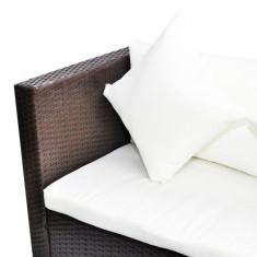 Set de canapele din poliratan cu două locuri Maro - Husa pat
