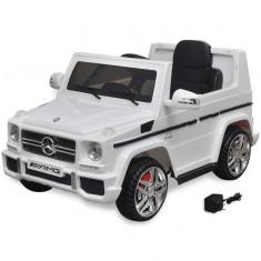 Mașină de jucărie electrică Mercedes Benz G65 SUV cu 2 motoare, alb - Simeringuri Moto