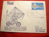 Plic special Aviatie- 75 Ani de la primul zbor mecanic Traian Vuia 1906