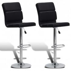 Set 2 scaune bar cu spătar înalt Negru - Set mobila living