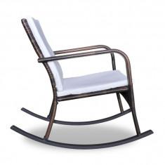 Scaun balansoar poliratan pentru grădină cu perne căptușite - Scaun gradina