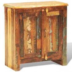 Dulap cu două uși din lemn reciclat în stil vintage - Dulap baie