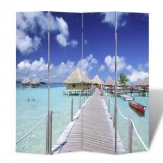 Paravan despărțitor cu imprimeu tropical, 160 x 180