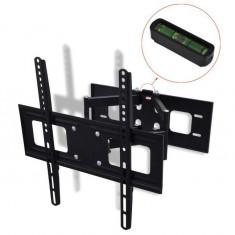 Suport TV perete, două brațe, sistem înclinare & pivotare 400 x 400 mm