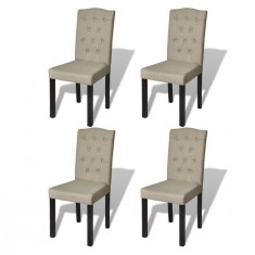 Set 4 scaune de sufragerie stil vechi bej - Scaun living