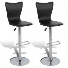 Set 2 scaune bar în formă L Negru - Set mobila living