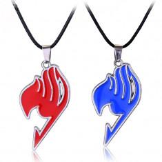 LANTISOR medalion PANDANTIV Colier FAIRY TAIL Rosu Albastru ANIME - Pandantiv fashion