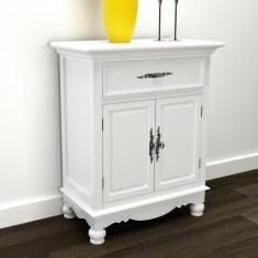 Dulap din lemn 2 uși și un sertar alb - Dulap hol