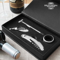 Set de Accesorii pentru Vin Bravissima Kitchen (4 piese) - Bijuterii Telefon
