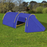 Cort camping 4 persoane, Bleumarin/Galben