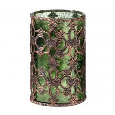 Verde din sticla Tealight Holder - Bidon