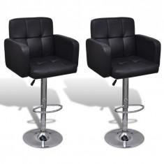 Set 2 scaune bar pivotante piele artificială Negru - Set mobila living