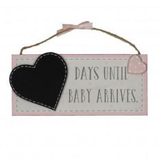 'Petit Cheri' Tablă MDF 'Așteptare Baby' - roz - Dictionar ilustrat